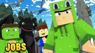 I got A JOB as a DRAGON TRAINER! Minecraft Jobs