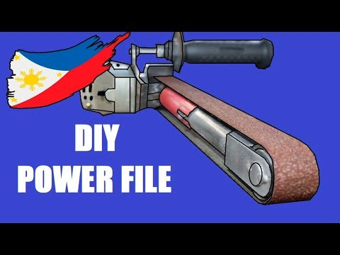 Diy Power File With Angle Grinder