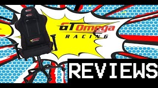 Gt Omega Pro Racing Office Chair Black Fabric Unboxing