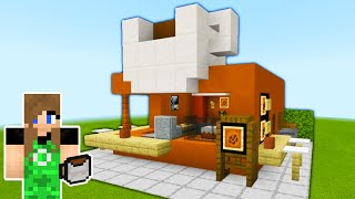 "Minecraft Tutorial: How To Make A Coffee Stand ""2020 City Tutorial"""