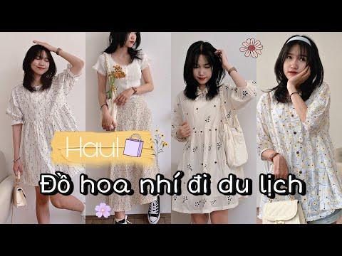 SHOPEE HAUL #19: GỢI Ý 5 OUTFITS ĐI DU LỊCH (babydoll,váy hoa nhí,yếm..) Minh Ngọc