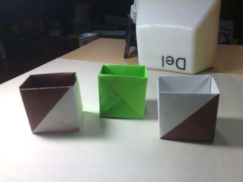 วิธีพับกล่องง่ายๆจากกระดาษแผ่นเดียว