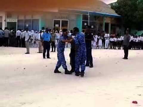 Baagee waheed Dharavandhoo visits and arrested MDP members
