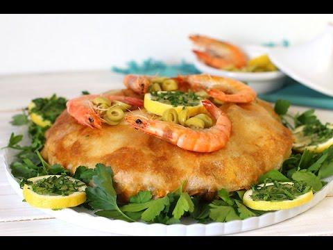 pastilla au poisson et fruits de mer / seafood bastila / بسطيلة السمك و فواكه البحر