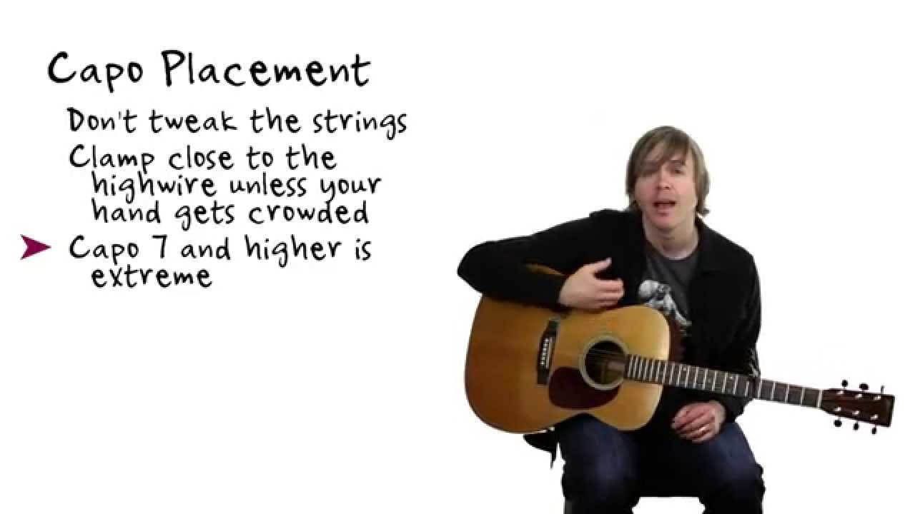 Quick Tip Using A Guitar Capo Youtube
