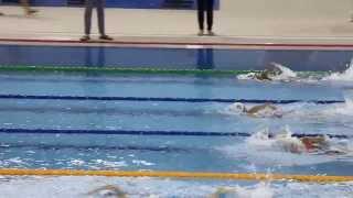 2013-2014  第三組別短池分齡游泳比賽第二節女子100米自由泳