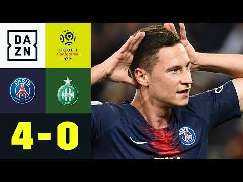 Julian Draxler mit Zaubertor: Paris St. Germain – St. Etienne 4:0   Ligue 1   DAZN Highlights