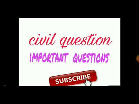 1st part of civil engineering important  question for all civil government  exam
