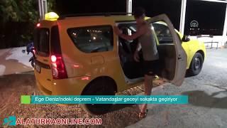 Ege Denizi'ndeki deprem Vatandaşlar geceyi sokakta geçiriyor