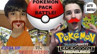 Jenna Em VS BoosterKings! Pokemon Legendary Treasures Pack Battle!