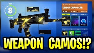 Fortnite Weapon Skins - Camos!? Battle Royale Mobile, Xbox One, PS4 et PC