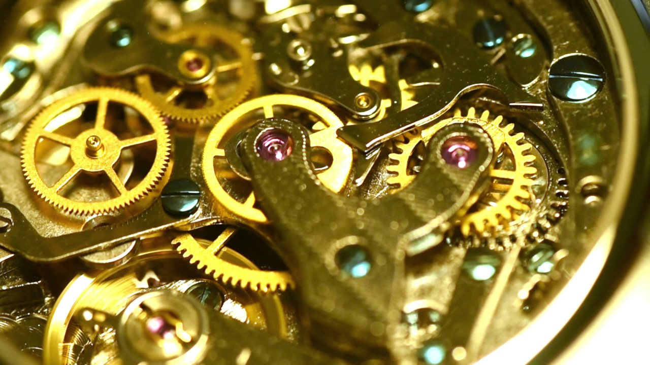 clock gears moving youtube