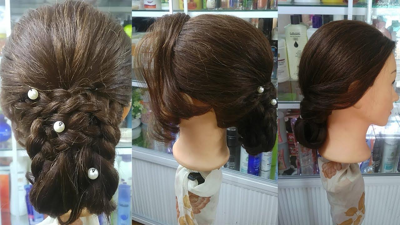 Kiểu tóc đẹp! Búi tóc Hoa, uốn lọn tóc mái Đơn giản có thể tự làm Dành cho bạn gái đi chơi,dự tiệc