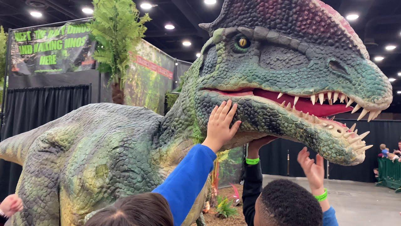 dinosaur world  jurassic quest  jurassic park   youtube