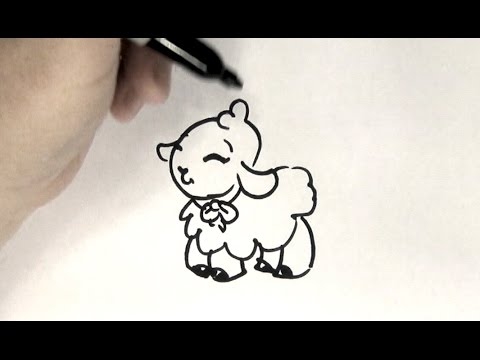 How To Draw A Lamb Youtube