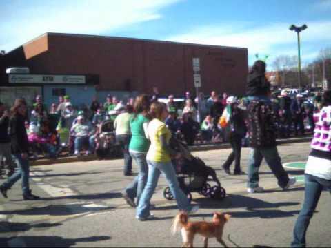 St Patrick's Day Parade Pawtucket RI 2010 # 4 vide...