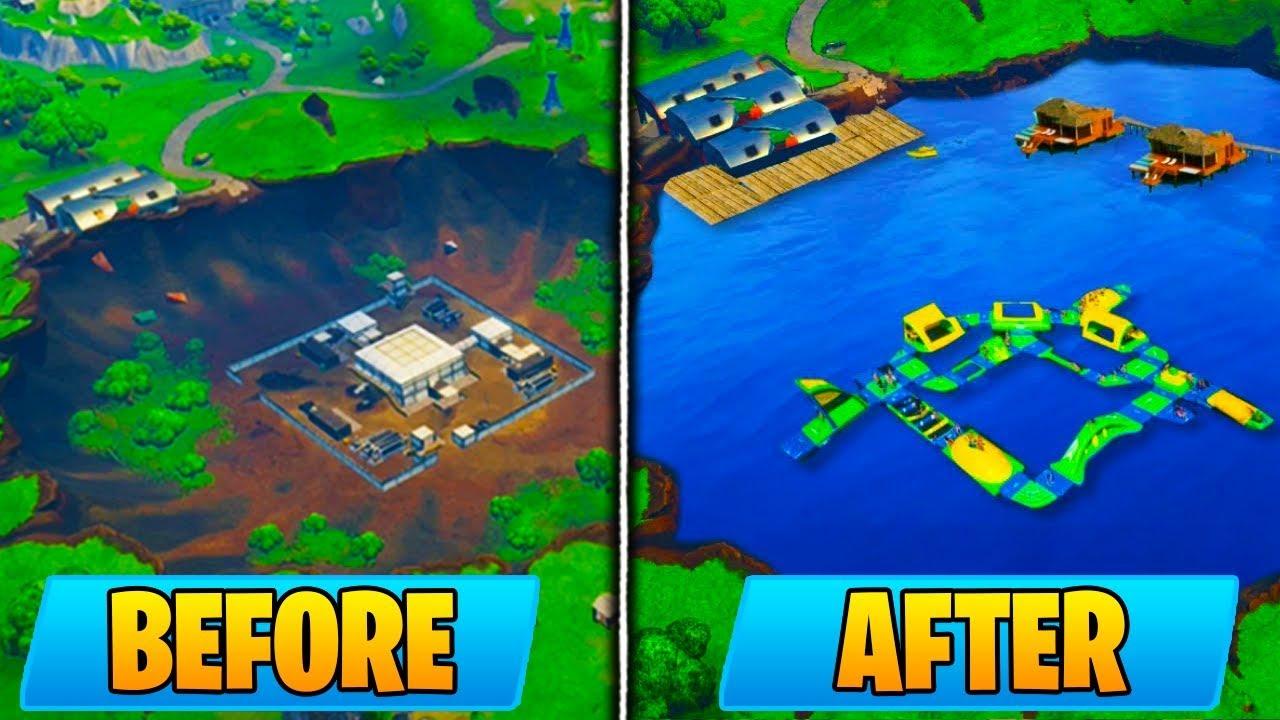 new dusty docks location replaces dusty divot fortnite battle royale season 5 map update - fortnite new dusty divot