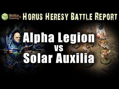 Alpha Legion vs Solar Auxilia Warhammer 30k Battle Report Ep 31