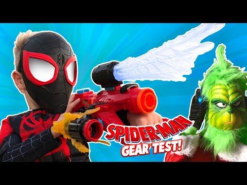Spider-Man Into the Spider-Verse Movie Gear Test + The Grinch Returns! KIDCITY