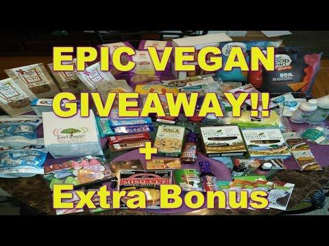 HUGE VEGAN GIVEAWAY!!! + Extra Bonus (closed)