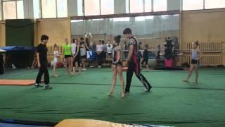 Открытая тренировка бронзовых призеров чемпионата мира по акробатике
