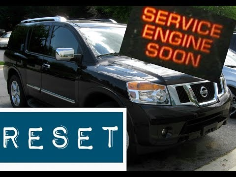 How To Reset Service Engine Soon Light On A 2008 Nissan Armada Youtube