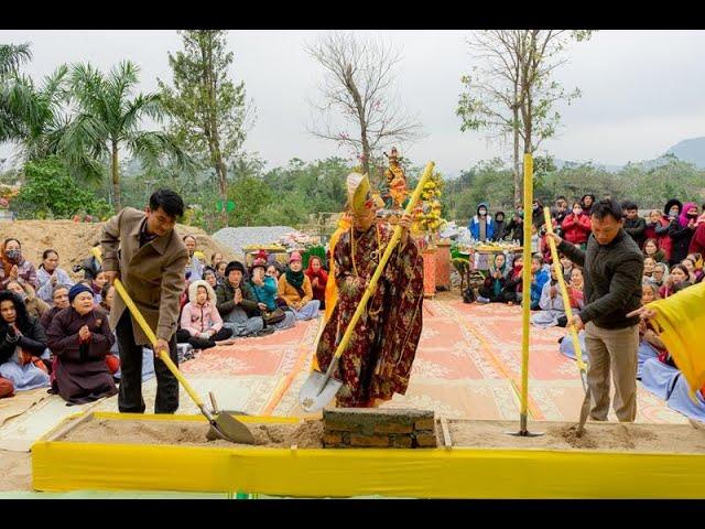 Lễ đặt đá xây dựng Tăng Đường chùa Vĩnh Phúc
