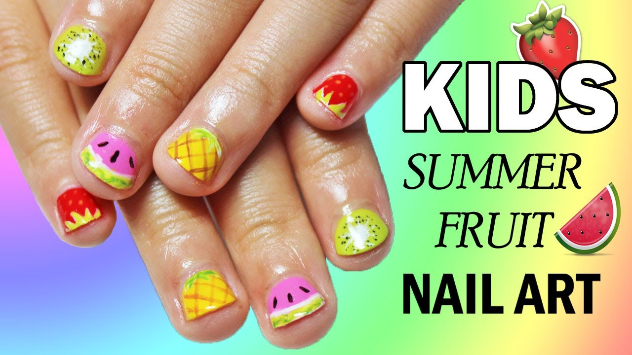 5 Easy Nail Art Designs For Kids | SUMMER FRUIT | Nailed It NZ - YouTube