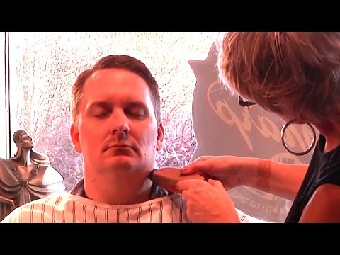 Ultimate Sharp Shave - Hot Lather/Straight Razor Shaving and Massage Experience  (Female Barber)