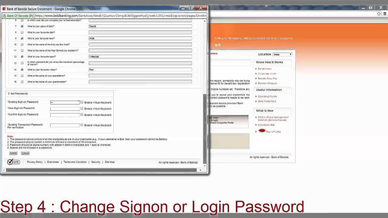 How to first time login to bank of baroda netbanking youtube altavistaventures Image collections