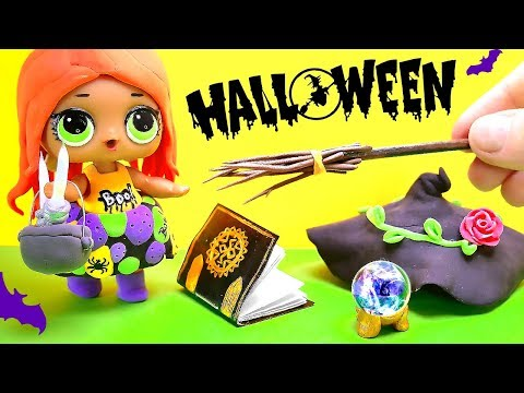 7 EASY DIY MINIATURE HALLOWEEN 🎃 LOL SURPRISE DOLL WITCH COSTUME AND ACCESSORIES