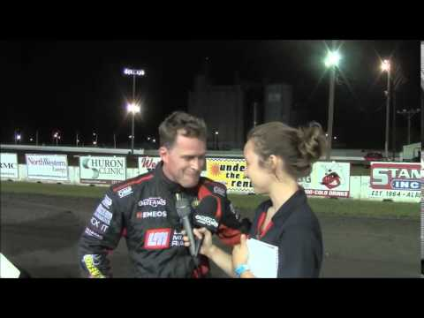 2015 World of Outlaws Sprint Car Series Victory Lane from Dakota State Fair Speedway