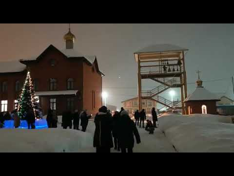 Рождество Христово, колокольный звон, церковь на ул. Строителей город Стерлитамак