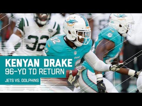 Kenyan Drake's 96 - Yard Kick Return TD! | Jets vs. Dolphins | NFL