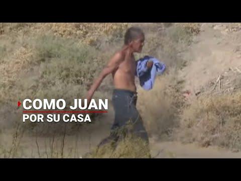 Video: Hombre cruza la frontera con EUA y la patrulla fronteriza no se dio cuenta