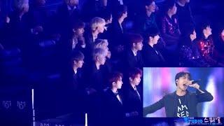 181106 Wanna One reaction to BTS + Charlie Puth 'Fake Love' @ MGA