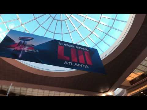 Atlanta Int'l Airport Ready For Super Bowl 53 With Lobby Gridiron