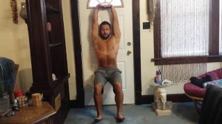 Wall sit Matt Furey style for leg strength and posture
