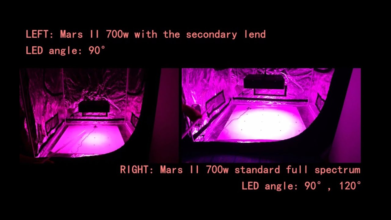 Mars II 700w standard LED Grow Lights VS Mars II 700w with ...