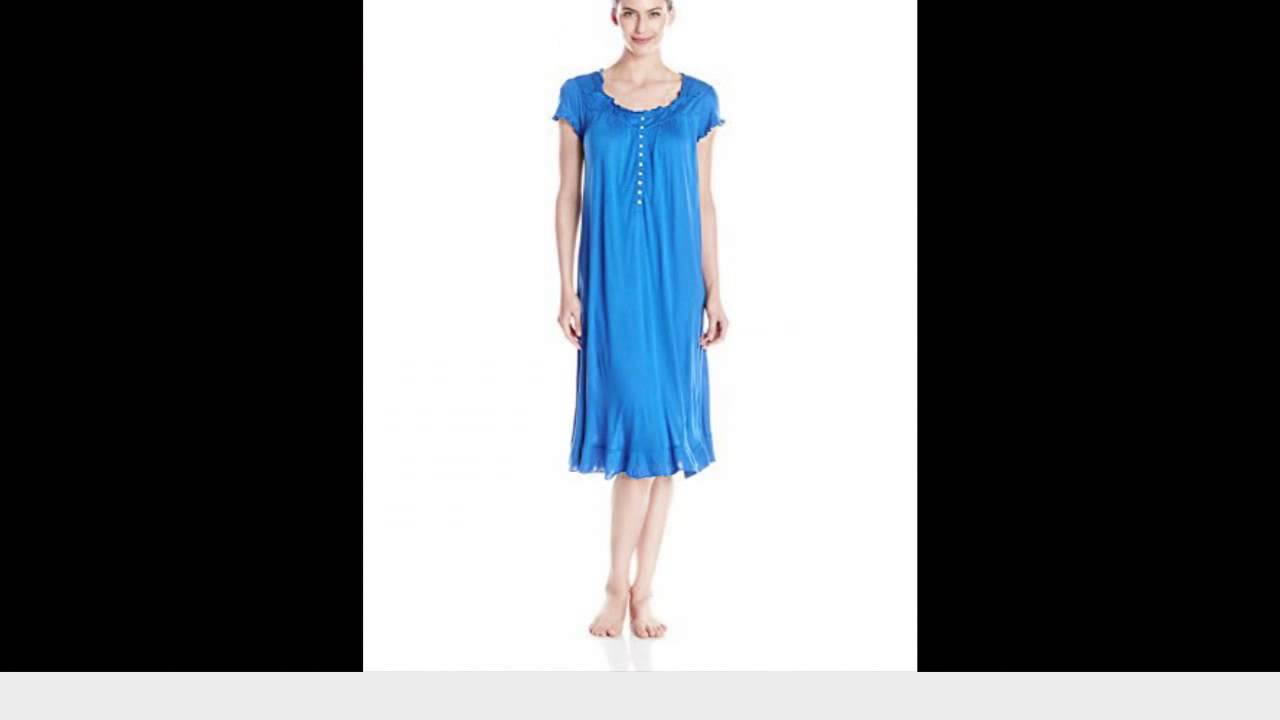 Eileen West Women\'s Belvedere Bloom Cap Sleeve Waltz Length Gown ...