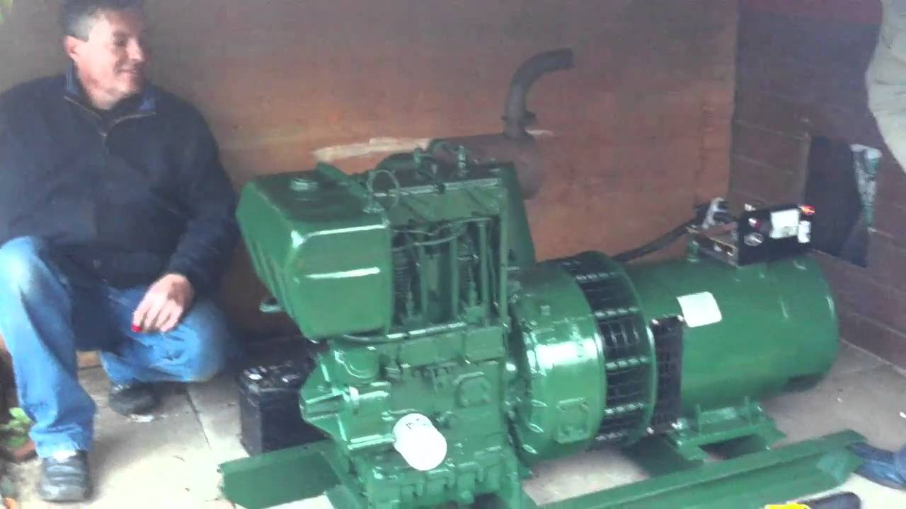 starting my lister petter ts2 generator set for the first
