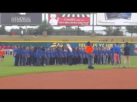 My choir national anthem at the Skeeters game.