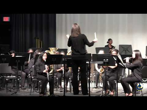 East Wake Middle School Advanced Band performs Elite on 3/19/2019