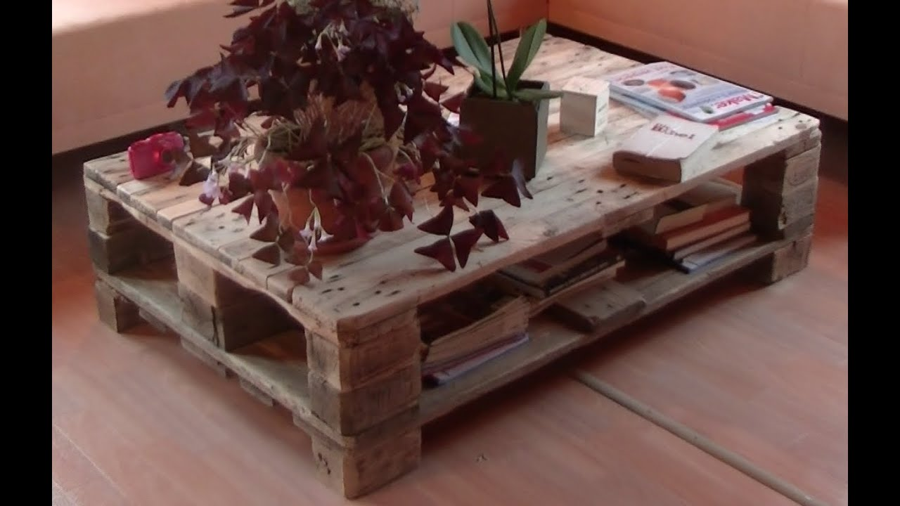 Living Room Table From Pallets