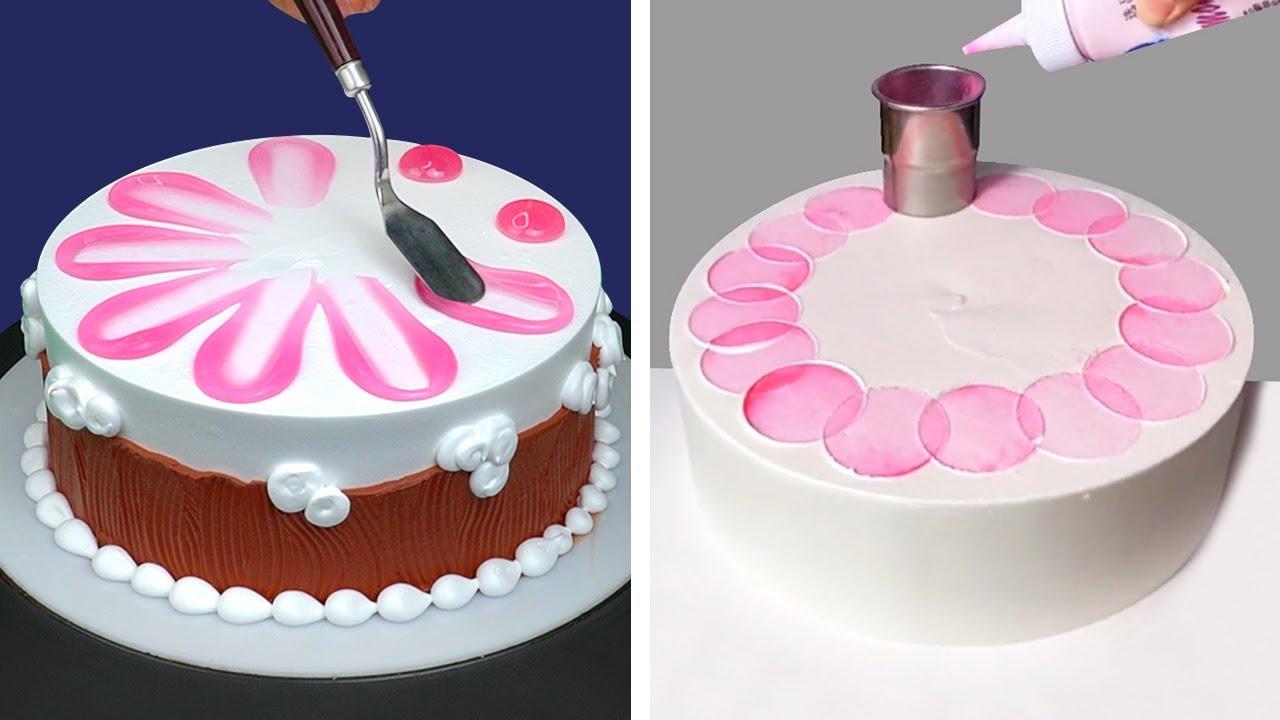 Stunning Cake Decorating Technique Like a Pro | So Yummy Chocolate Cake Recipes | Pink Cake Design