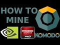 How To Mine KOMODO AMD NVidia GPU ZCash zkSNARK Bitcoin DPOW/POW EWBF Optiminer Claymore