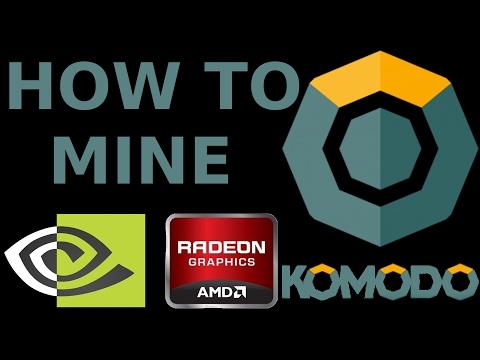 How To Mine KOMODO AMD NVidia GPU ZCash ZkSNARK Bitcoin DPOW/POW EWBF Optiminer Claymore