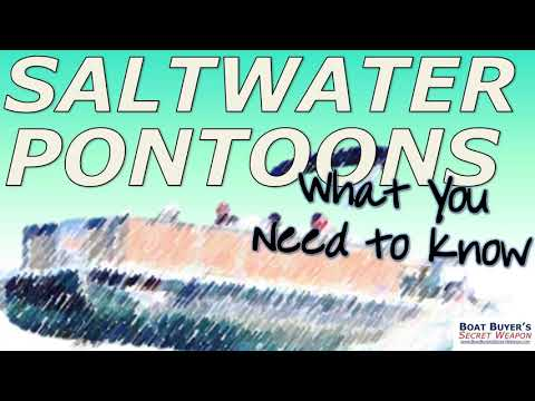 Can Pontoons Go In Salt-Water? (and, What You Need To Know)