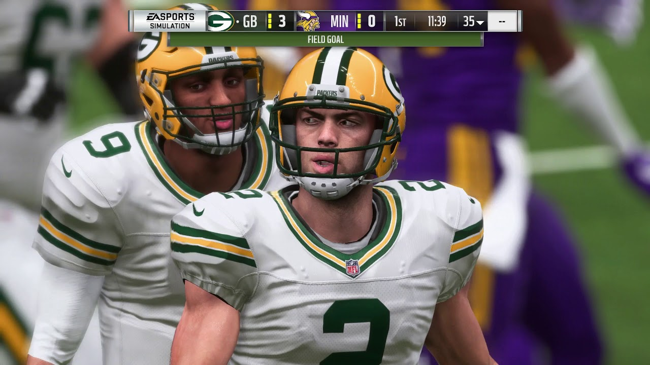 14de0e3b735 Madden NFL 19 NFC North Rivalry Match - Green Bay Packers vs Minnesota  Vikings (Color Rush)