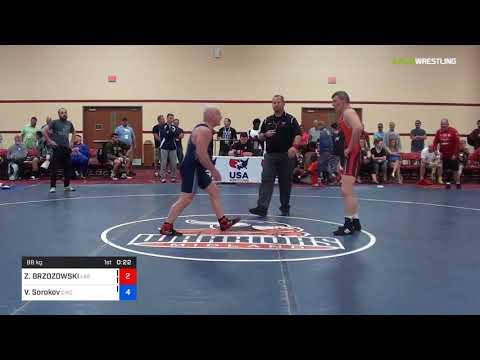 2018 Marine Corps US Open/Masters E Greco Roman 88 RR Rnd 4 - ZDZISLAW BRZOZOWSKI (Las ) Vs. Valer